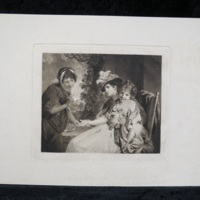 The Fortune-Teller, mezzotint