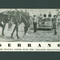 Serrano the Talking Horse postcard