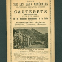 Cauterets Resort pamphlet