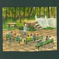 Spiritualist Scene painting