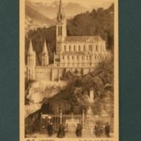 Lourdes postcard, sepia