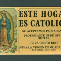 Catholic house card