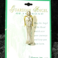 Guardian Angel of the Road clip-on