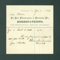 Homeopathic Doctors Bill, 1894