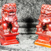 Set of Foo Dog statuettes